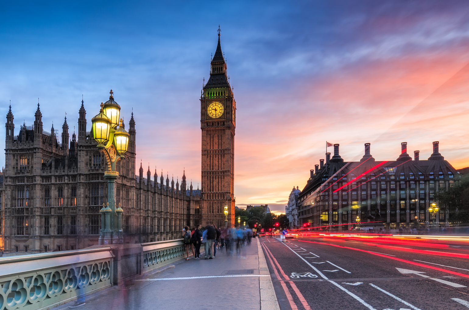 Big Ben And Westminster In London At Sunset