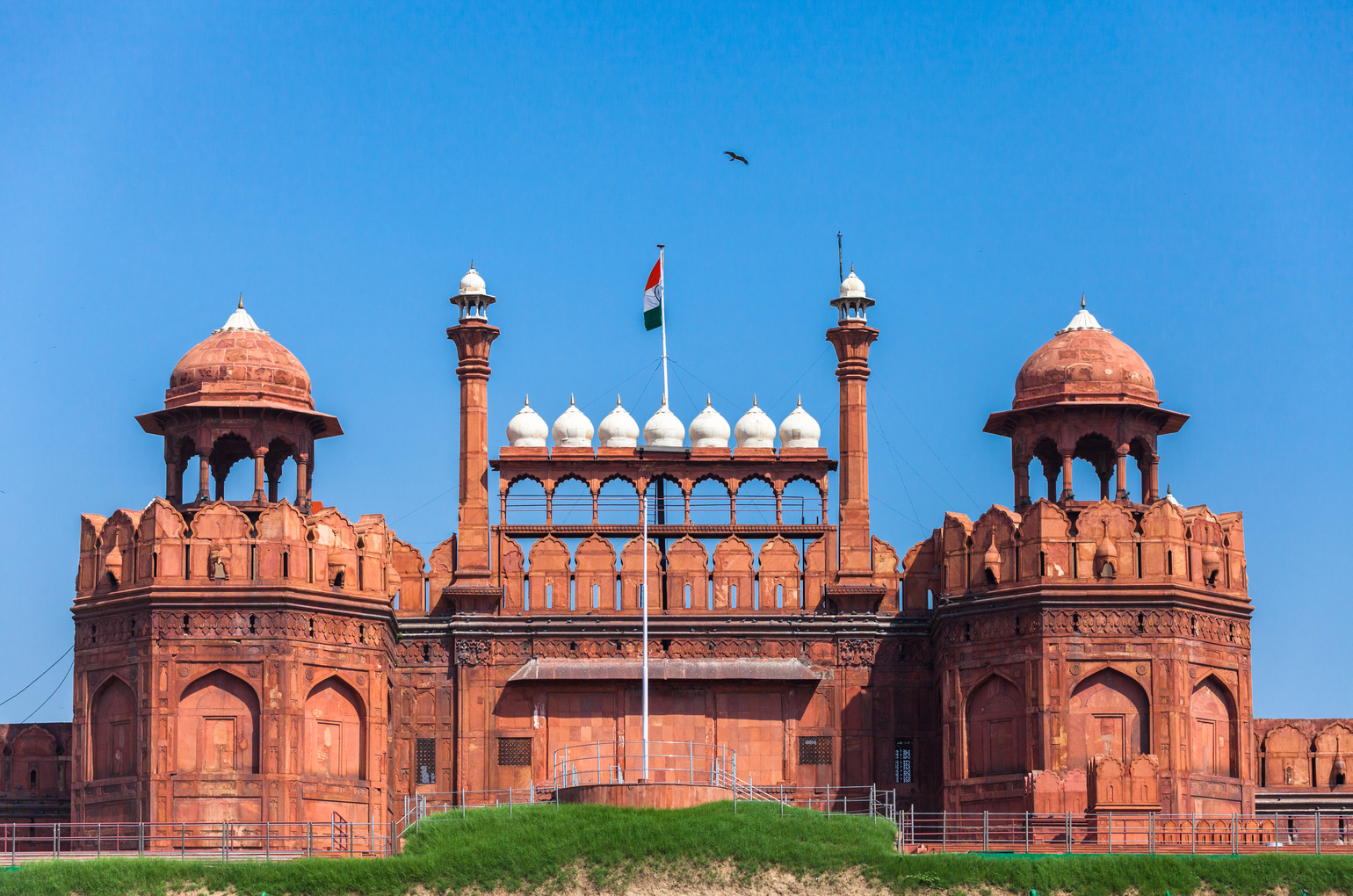 Red Fort In Delhi. Unesco World Heritage Site, The Red Fort Is An Iconic Symbol Of India