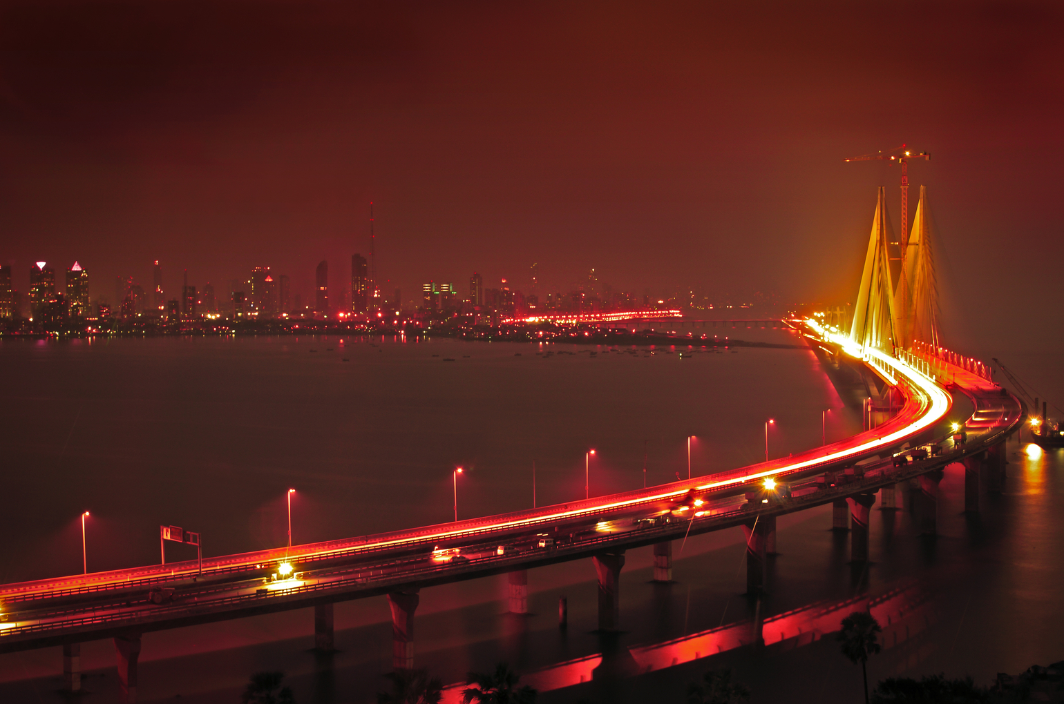 A Cable Stayed Vehicular Bridge That Links Bandra In The Northern Suburb Of Mumbai With Worli In South Mumbai